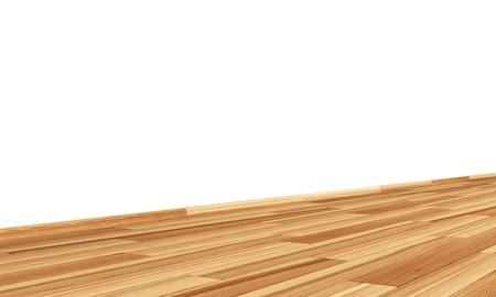diagonally: Wall with wooden floor diagonally - Ash Brown