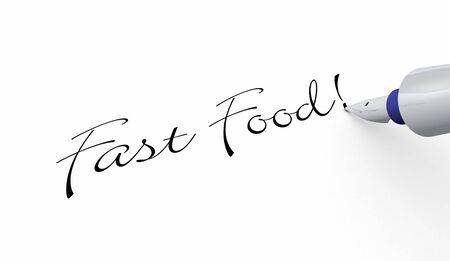 colorectal cancer: Pen Concept - Fast Food
