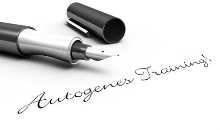 Autogenic training - pin concept Stock Photo - 16135527
