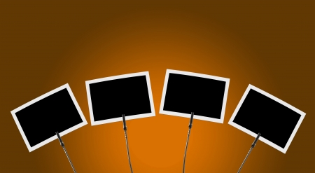 peg board: Photo Clip 4x front of orange background 1
