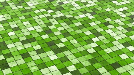 Background green colored floor tiles  photo