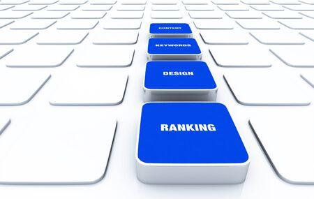 3D Pads Blue - Design Content Keywords ranking Stock Photo - 16135443