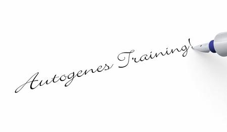 Pen Concept - Autogenic training Stock Photo - 16451915