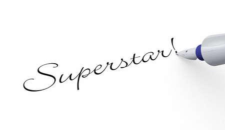 superstar: Pen Concept - Superstar Stock Photo