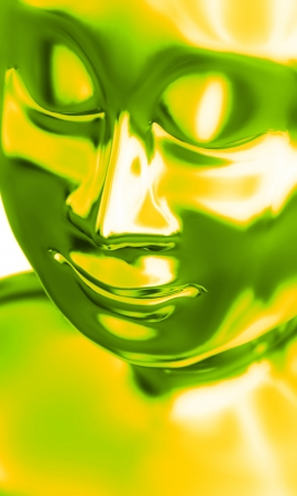 green yellow buddha photo