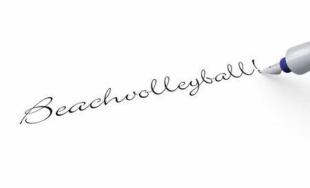 Pen concept - beach volleyball Stock Photo - 16451903