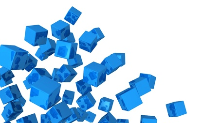 cuboid: Banners - Flying Cube Blue 03