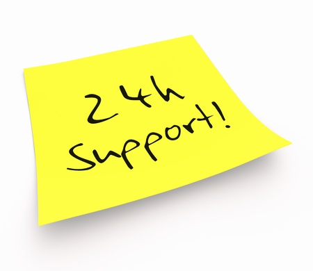 customercare: Stickies - 24 hour support