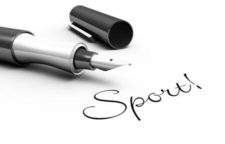 integral: Sports - pin concept Stock Photo