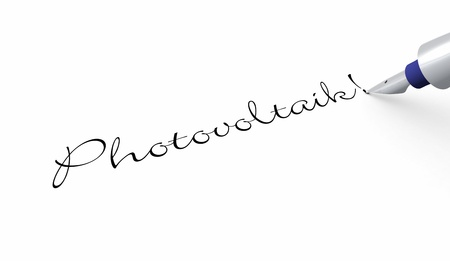 photovoltaics: Pen Concept - Photovoltaics