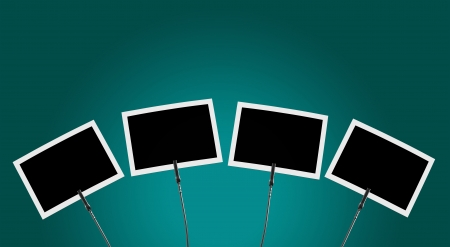 Photo Clip 4x before turquoise background 1 Stock Photo - 16524756