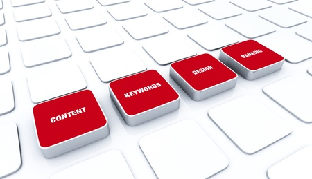 customercare: 3D Red Pads - Design Content Keywords Ranking 5