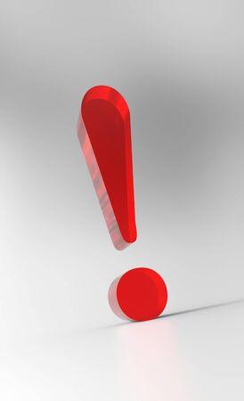 exclamation mark: Gran signo de exclamaci�n - Cristal Rojo