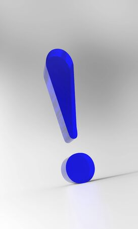 Big exclamation - Blue Glass Stock Photo - 16524766