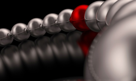 Chrome Red Ball Focus 3 Stock Photo - 16525097