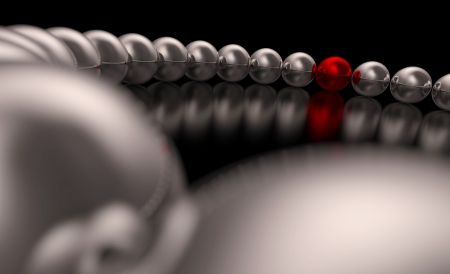 Chrome Red Ball Focus 2 Stock Photo - 16525038