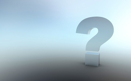 The big question is silver gray Stock Photo - 16525658