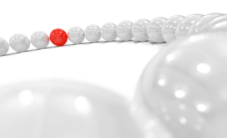particularly: 3D Red Ball Focus 1