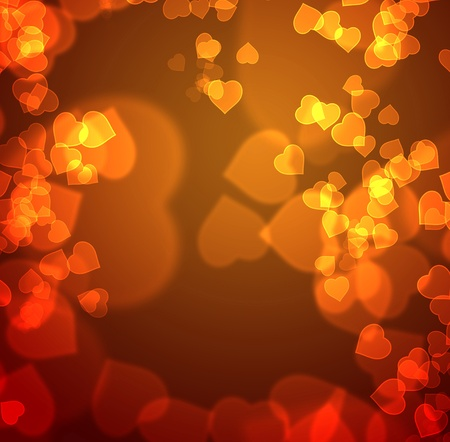 eroticism: Greeting card of a hundred hearts