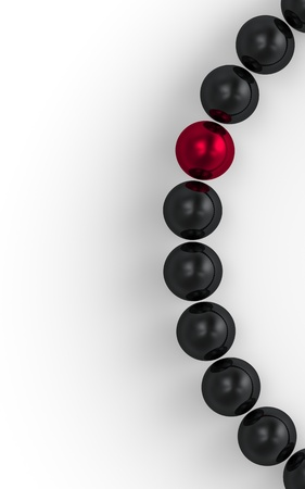 red and black - 3D ball focus 1 Stock Photo - 16525177