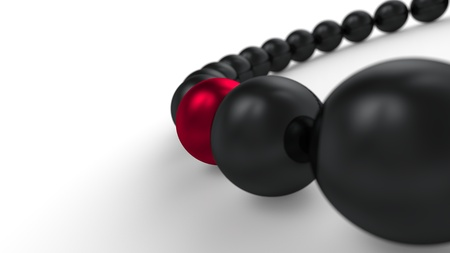 red and black - 3D ball four focus Stock Photo - 16524991