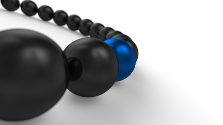 blue and black - 3D ball focus 2 Stock Photo - 16525003