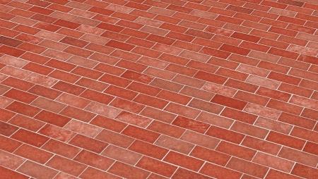 clinker tile: Brick-red diagonal pattern Stock Photo