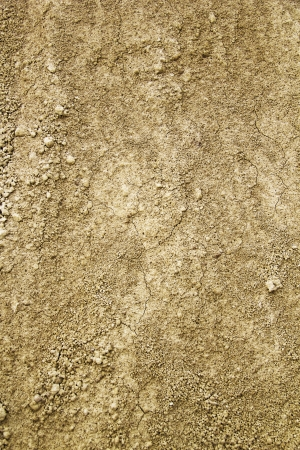 Background - Dry sand with two cracks photo