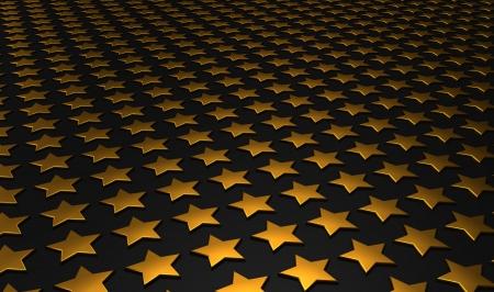 backplate: Stars matrix background - gold black 9 Stock Photo