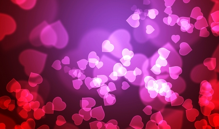swarm: Heart pink red swarm Stock Photo