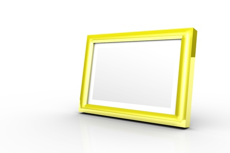 3D - picture frame yellow photo