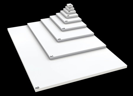 din: 3D format DIN A0 to A8 concept - SW 01