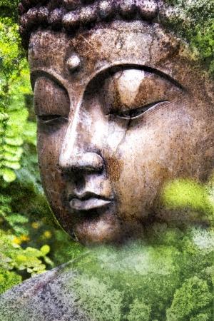 wellness icon: Grunge Buddha Nature - chipped paint