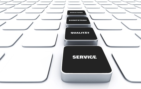 Cuboid concept Black - consulting expertise service quality 11 Stock Photo