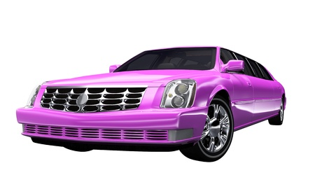 exempt: Stretch Limousine Pink - exempt Stock Photo