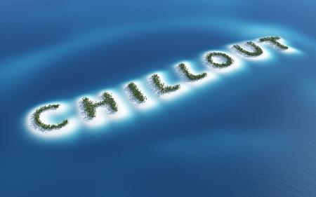Chillout - island concept Stock Photo