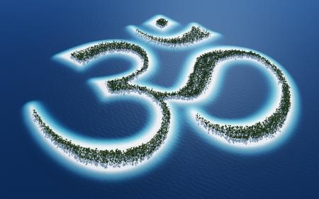 3d om: Aum Om symbol - Island Concept 2