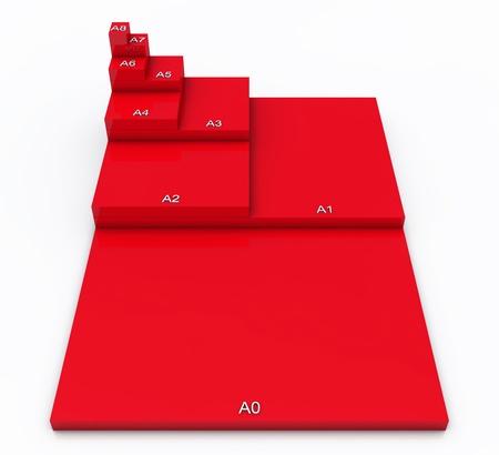 business matter: 3D format DIN A0 to A8 concept - Red 02