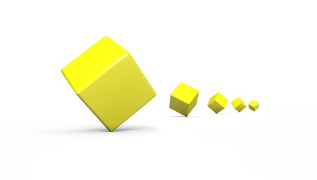 episode: 3d cube episode Yellow White Stock Photo