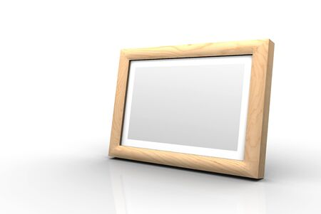 peeled: Wooden picture frame - peeled birch
