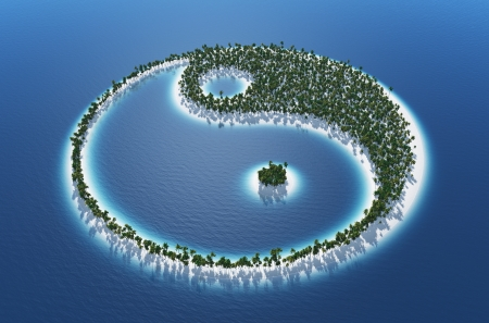 3d aum: Yin and Yang - Island Concept 2