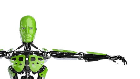 d data: Green Cyborg Stock Photo