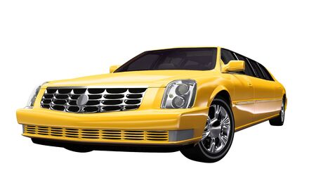 exempt: Stretch Limousine yellow - exempt Stock Photo