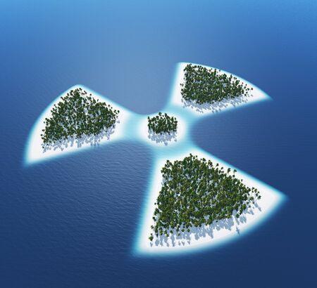 atomic bomb: Radioactive - island concept