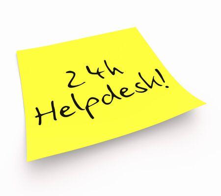 customercare: Stickies - 24h Helpdesk