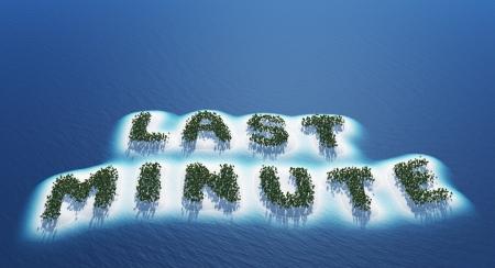 Last minute - Island Concept Reklamní fotografie - 18628097