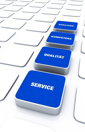 cuboid: Cuboid concept blue - consulting expertise Service Quality