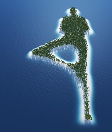 deeksha: Yoga island concept
