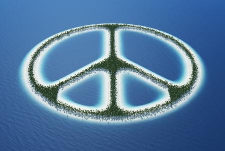 Peace sign - Island Concept  Stock Photo - 18628323