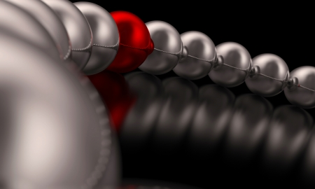 Chrome Red Ball Focus  photo